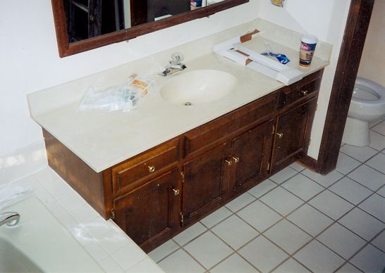 Bath counter before