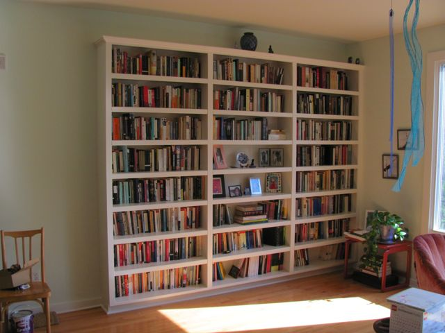 Installed bookcase